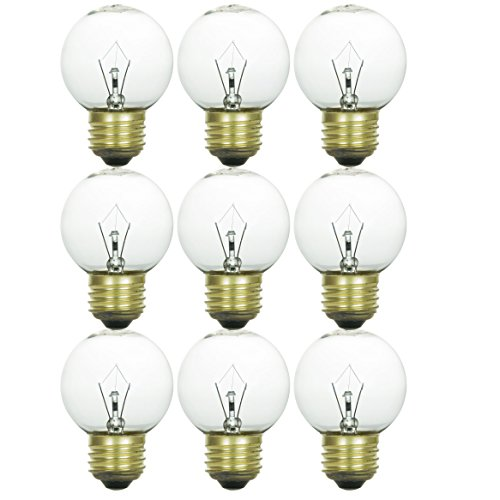 Sunlite 25G19/CL/12PK 25W Incandescent G25 Crystal Clear Light Bulb with Medium E26 Base (12 Pack)