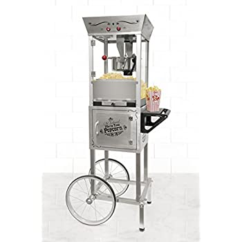 Nostalgia SPC700SS 6-Ounce Commercial Stainless Steel Popcorn Cart - 53 Inches Tall