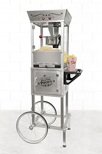 Nostalgia SPC700SS 6-Ounce Commercial Stainless Steel Popcorn Cart - 53 Inches Tall by Nostalgia