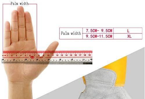 手袋 反火傷防止手袋、産業労働保護手袋、革手袋、耐摩耗性、電気溶接に適して LMMSP (Size : L)