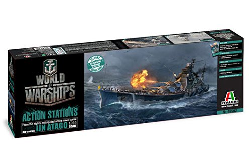 Italeri 46502 World of Warships WoWS IJN Atago Plastic Model Kit, 1:700 Scale