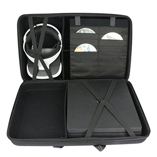 41psyZamTpL - Hard-Travel-Case-for-Sony-PlayStation-4-Pro-Console-PlayStation-VR-PSVR-Launch-Bundle-by-co2CREA