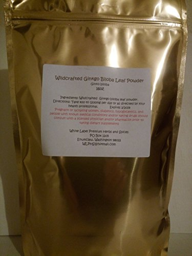 Bulk Valerian Root (Premium Wildcrafted Ginkgo Biloba Leaf Powder 16oz ~ 1lb (pound) ~ White Label Premium Herbs and Spices ~ BULK ~ Fresh Strong and Aromatic~ Non GMO no additives or chemicals ~)