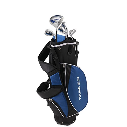 Young Gun ZAAP ACE Blue Junior Golf Club Youth Set & Bag for Kids Ages 6-8