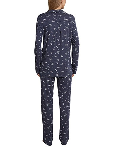 Schiesser, Pijama para Mujer gris (grafito 207)