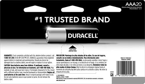 Rechargeable AAA Batteries all-purpose Triple A battery for household and business 2 count Duracell long lasting