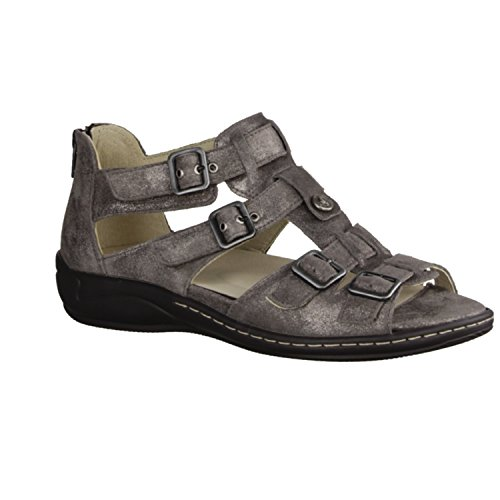 SANDALS Hilena 582002 Forest Comfortable Grey Peltro Loose nbsp;WOMENS Runner Leather nbsp;Inlay Gold 103 Sc6pFA4