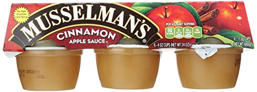 Musselman's Cinnamon Apple Sauce, 6 - 4 Ounce Cups