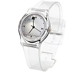 Personality Transparent Wristwatch Transparent Strap Summer Decoration Woman Child teacher Teen Young Girls Children Kids Watches Colorful Flower-624.Turned on Black Torchiere Lamp