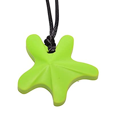 chubuddy Chewable Star Fish Pendant Chewy Non-Toxic Material-Hot Lime: Health & Personal Care