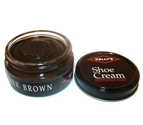 (Kelly's Shoe Cream - Professional Shoe Polish - 1.5 oz - Dark Brown)