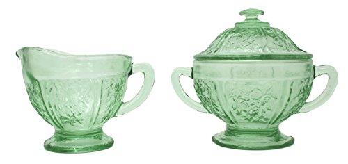 Vintage Green Depression Glass - 2