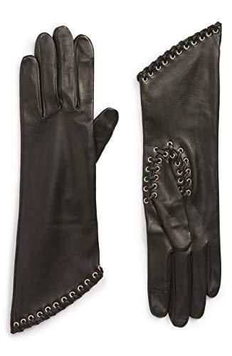 [アニェル] レディース 手袋 Agnelle Eyelet Lambskin Leather Gloves [並行輸入品]