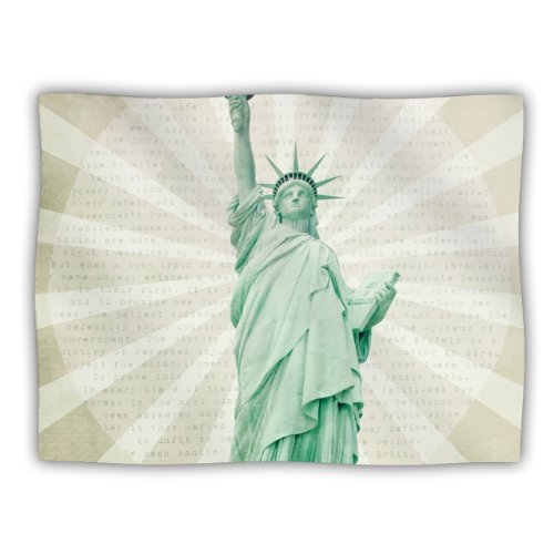 KESS InHouse Catherine McDonald The Lady Statue of Liberty Pet Blanket, 40 by 30-Inch