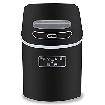 Whynter IMC-270MB Compact Portable Ice Maker, 27 lb. Capacity, Metallic Black