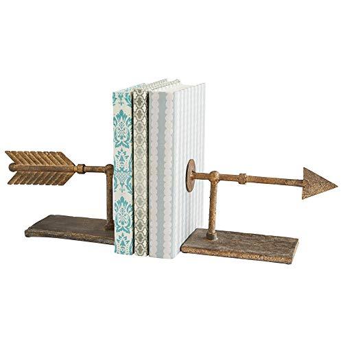 Zinc Decor Archery Bookends Weathervane Metal Arrow Book Ends