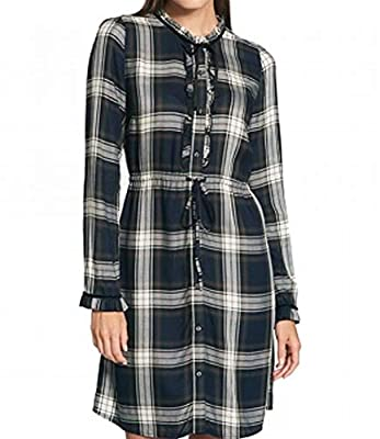 Tommy Hilfiger Women's Ruffled Plaid Shirt Dress