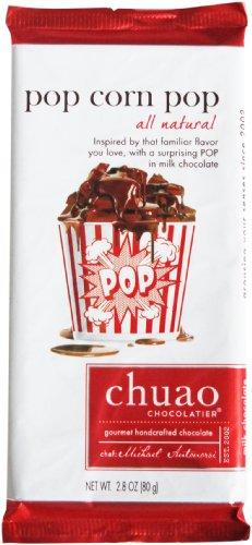 Chuao Chocolatier All Natural Milk Chocolate Bar, Pop Corn Pop, 2.8 Ounce