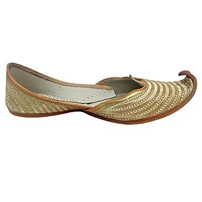 Step n Style Indian Shoes Punjabi Jutti Bridal Shoes Khussa Shoes Mojari Saree Juti | Loafers & Slip-Ons