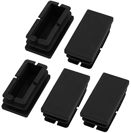 NA 5 Pieces Black Plastic dustproof Cover 40mm x 20mm Square Hole Protector
