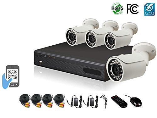 - HDView 9CH Tribrid: 8 Channel DVR + 1 Channel NVR, 2.4MP 1080P HD Megapixel Security Camera Surge-Protection HD-AHD DVR Kit, with 1TB HDD, 4 x 2.4MP 1080P Infrared Cameras Package System