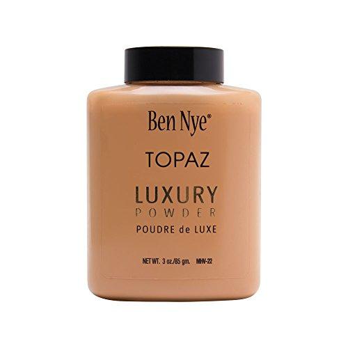 Ben Nye Topaz Face Powder Shaker Bottle - 3oz Large Size (Ben Powder Nye Set)
