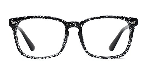 TIJN Unisex Oversized Square Wayfarer Non-prescription Eyeglasses - Prescription Oversized Glasses