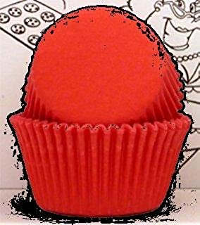 Red Baking Cups paper Standard Size Red Cupcake Liners appx. 500 pc.