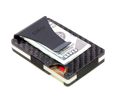 Carbon Fiber Wallet - Minimalist Wallet - Metal Wallet - RFID Blocking Slim Wallet - Credit Card Holder for Men - RFID Wallets