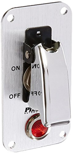 Pilot Automotive PL-SW52CR Performance Chrome Safety Cover Toggle Switch with Red Indicator Light - Chrome Switch
