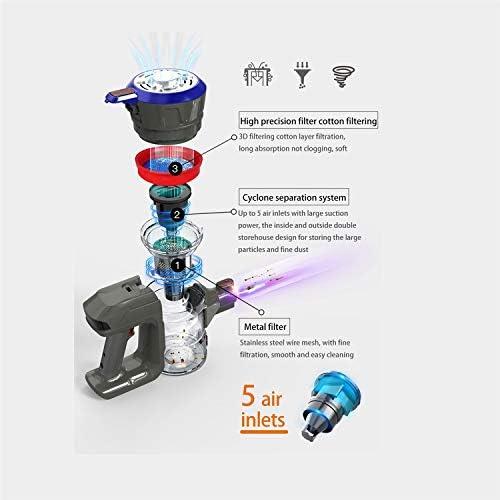 LQPOUXCQ aspirateur balai Protable 2 Dans une poche sans fil Aspirateur Cyclone Filtre forte aspiration Collecteur de poussière