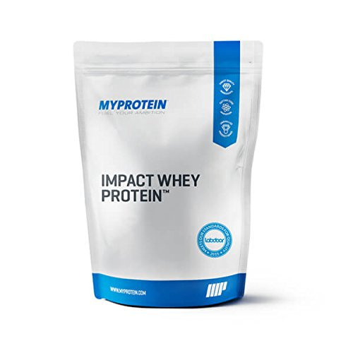 Myprotein Impact Whey Protein Blend, Unflavored, 5.5 lbs (100 Servings)