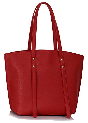 Bag Large Red UK DELIVERY Women's 50 SAVE FREE Tote Gorgeous IwSRa