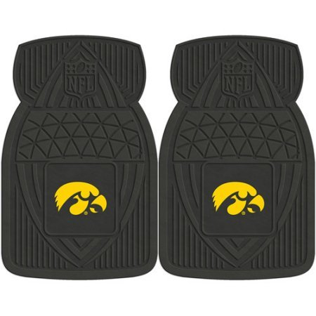 NCAA 4-Piece Front #36572596 and Rear #19888863 Heavy-Duty Vinyl Car Mat Set, University of Iowa by Sports Licensing Solutions LLC