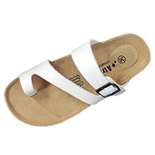 Pantoufles Flats Flip Dames Womens Blanc Flops Retro Fashion Sandales Plage Romaines Bhydry Chaussures tSRw8qn