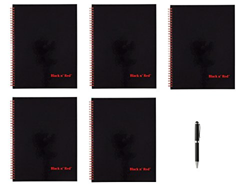Black n' Red Twin Wire Hardcover Notebook, 11