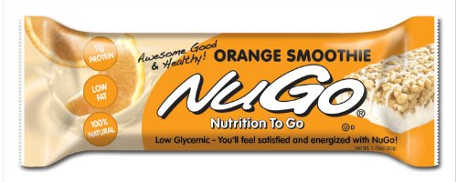 NuGo All-Natural Nutrition Bar, Orange Smoothie, bars 1,76 onces (Pack de 15)