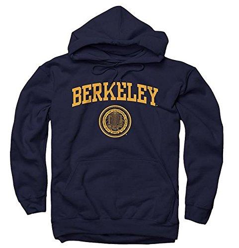 Berkeley Sweatshirt - Men's UC Berkeley Arch & Seal Hoodie Sweatshirt-Navy-S