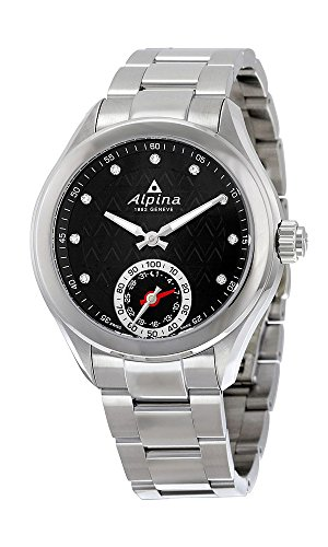 Alpina Horological Smartwatch Womens Steel Calendar Quartz Black Dial AL-285BTD3C6B