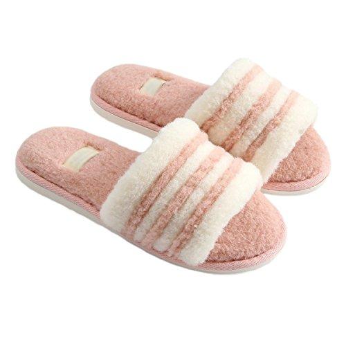 Rayures pink Femelle Couple en parquet Maison Coton Chambre Pantoufles Confort Mâle Intérieur Coucher ROMEYA Maison Petit à en Chaussures Nouveau Frais Coton Pantoufles q4SwBpBt