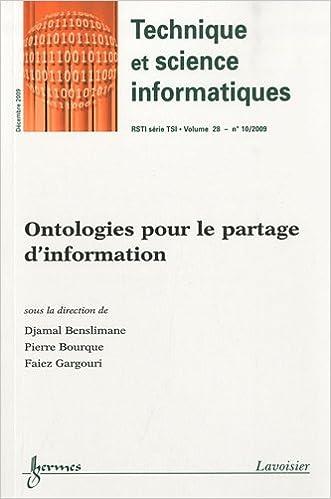 Lire en ligne Revue des Sciences et Technologies de l'Information, Volume 28 N° 10/2009 : Ontologies pour le partage d'information pdf