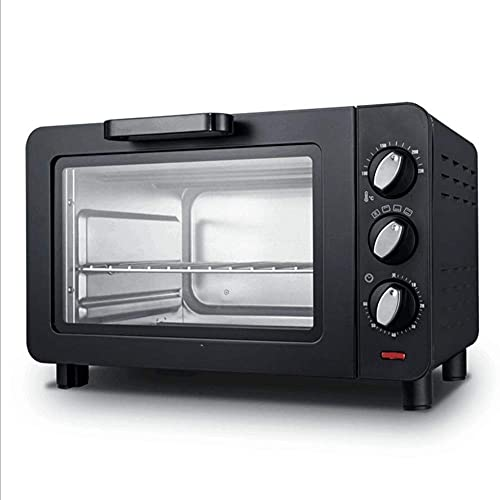 Home Furnishings Compact Toaster Oven Cooker for Bread Bagels Cookies Pizza Paninis More with Baking Tray Rack + Auto…