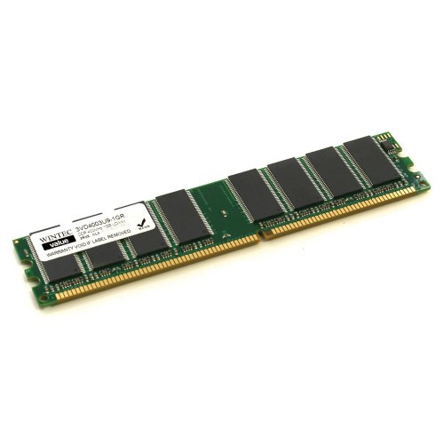 Wintec Value MHzCL3 1GB UDIMM Retail 2Rx8  (10) 1 Not a Kit (Single) DDR 400 (PC 3200) 184-Pin SDRAM 3VD4003U9-1GR by Wintec (Image #1)