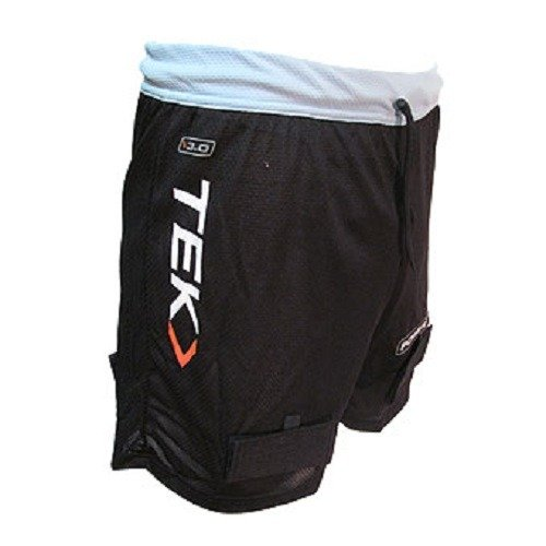 PowerTek YOUTH GIRL'S Mesh Loose Ice Hockey Jill Shorts, Pelvic Protector & Tabs for Socks – Sports Center Store