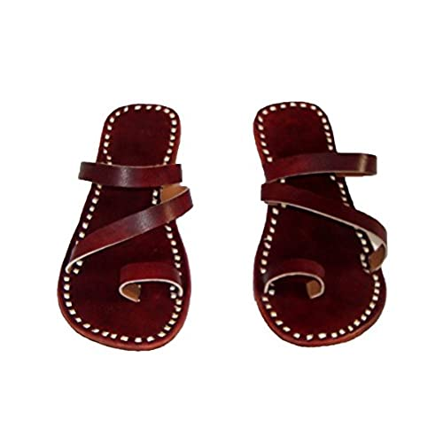 509bcf6109a16 durable modeling COFFEE LEATHER SHOES Indian sandals Online shoes Leather  Shoes Cheap shoes flats