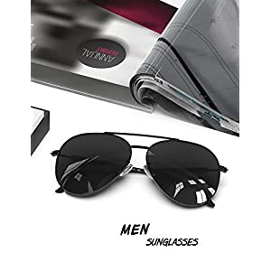 Mens Sunglasses Polarized UV 400 Protection Fashion Style by LUENX 60MM
