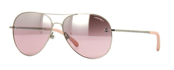 605f2774192 Chanel Sunglasses 4189TQ C1243C Silver Grey Gradient  Amazon.co.uk  Clothing