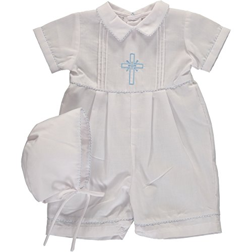 Baby Boys Christening Embroidered Cross ()