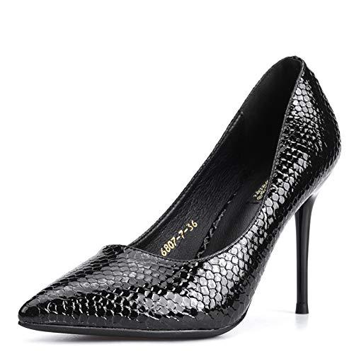 FLYRCX Frühling und Herbst Arbeiten reizvolle Dame hohe Absätze Absätze Absätze fein Temperament Partei Schuhe mit Spitzen Schuhen Serpentin ee72f7