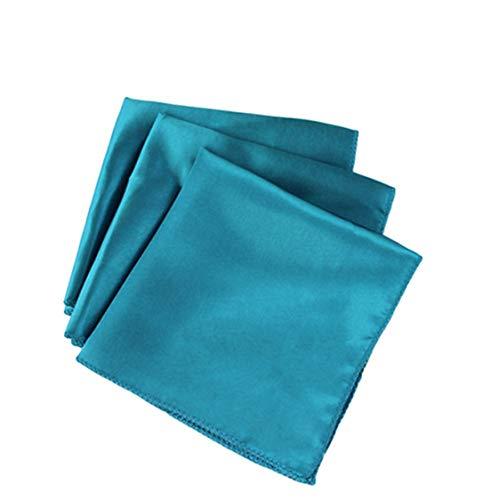 50pcs/lot 30cm x 30cm Aqua Blue Square Satin Table Napkin Diner Handkerchief Hanky for Wedding Party Decoration